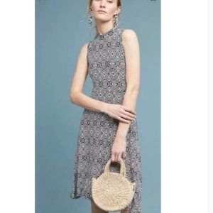 Anthro Maeve Cleary Mock neck dress.